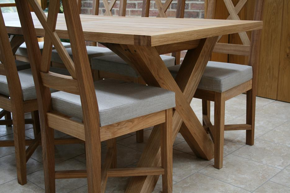 dining table with criss cross legs