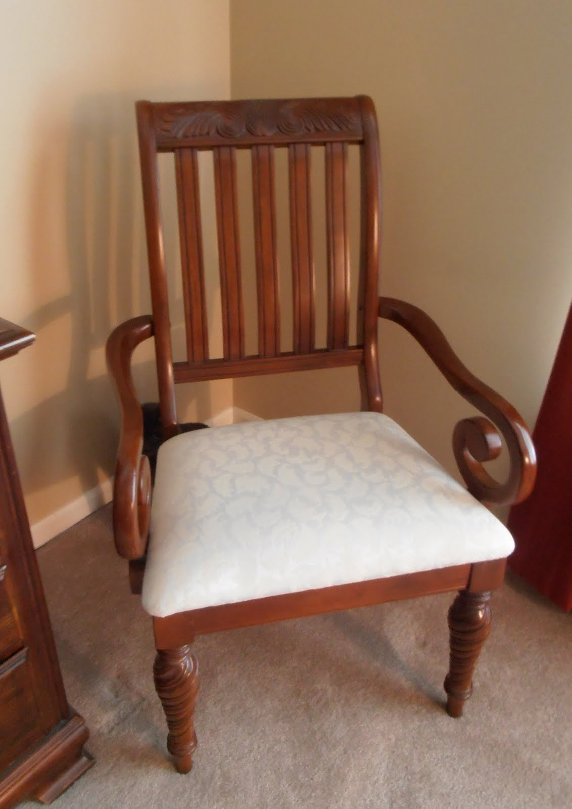 how to cover dining room chair cushions