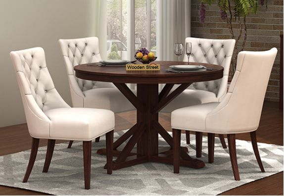 Round Dining Table Buy Round Dining Table Set Online At Low Price In India