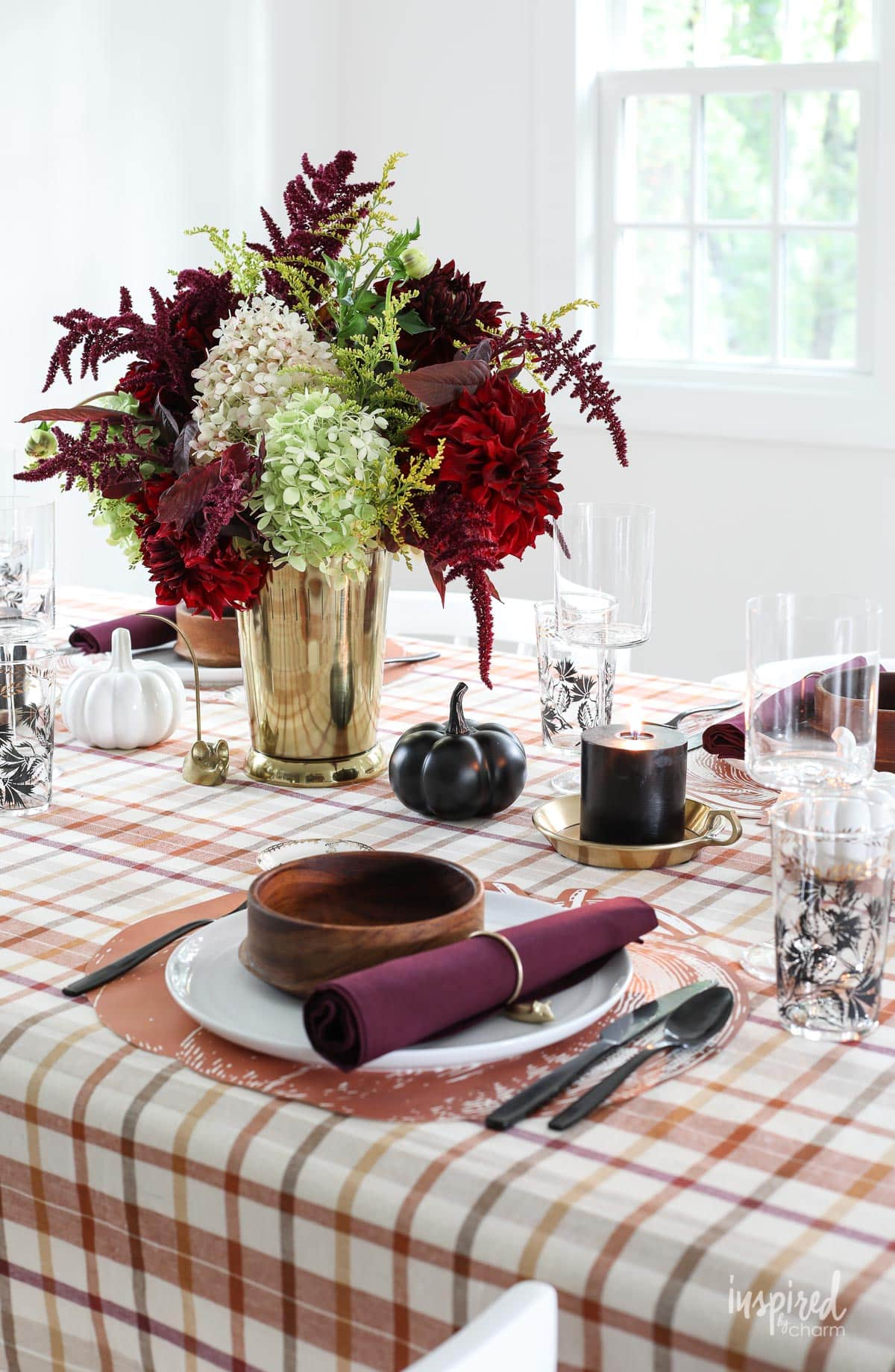 fall dining table centerpieces