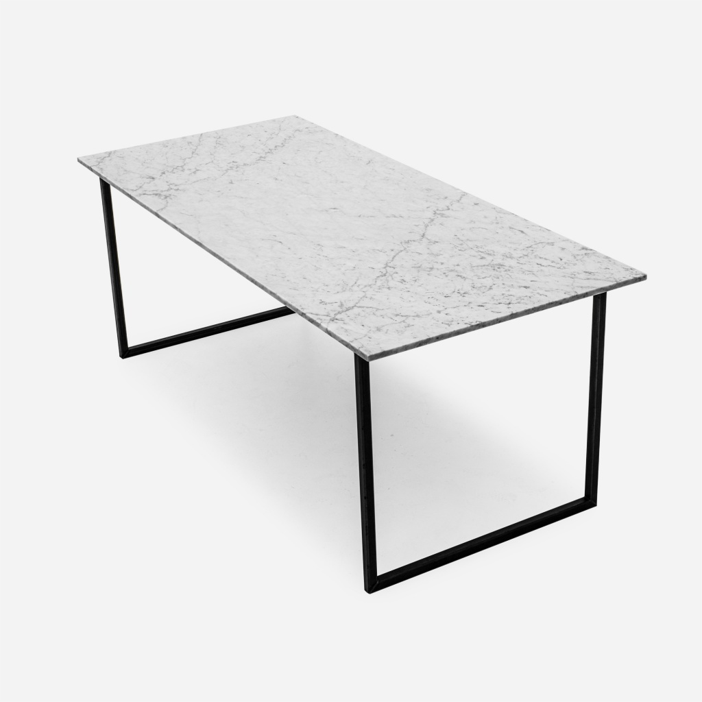 white marble table top dining table