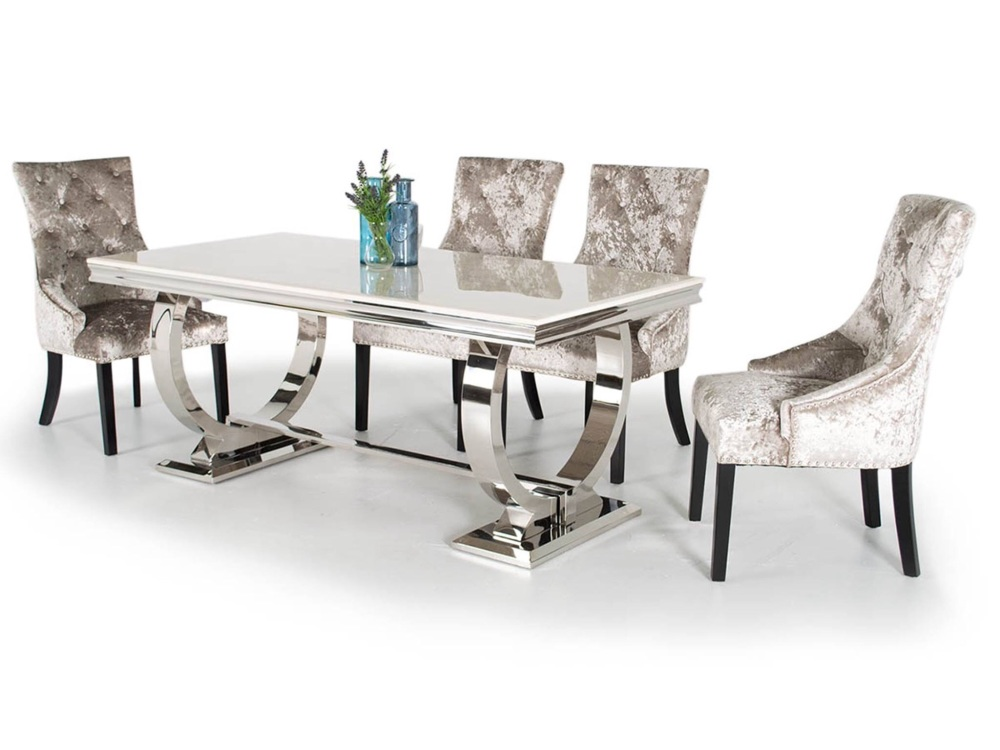 rectangle dining table and 6 chairs