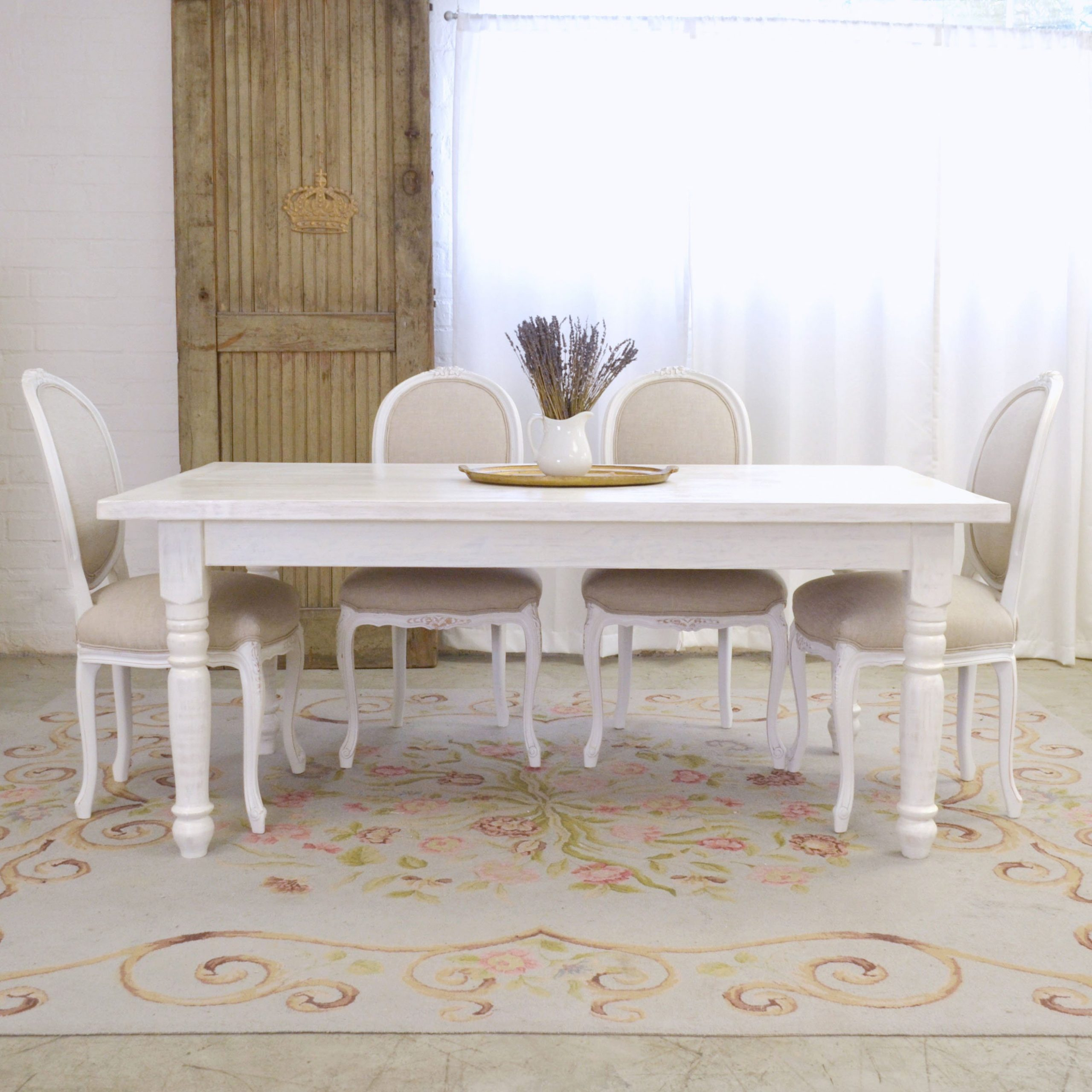 french white dining table