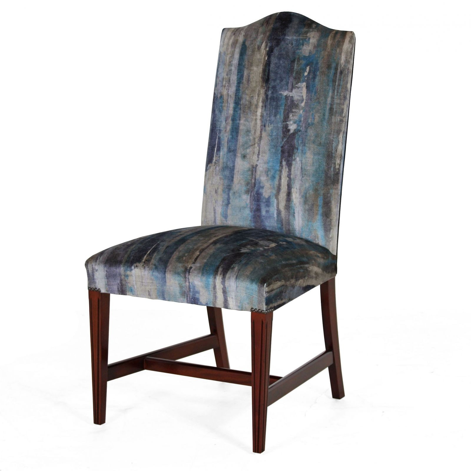 mahogany upholstered dining chairs