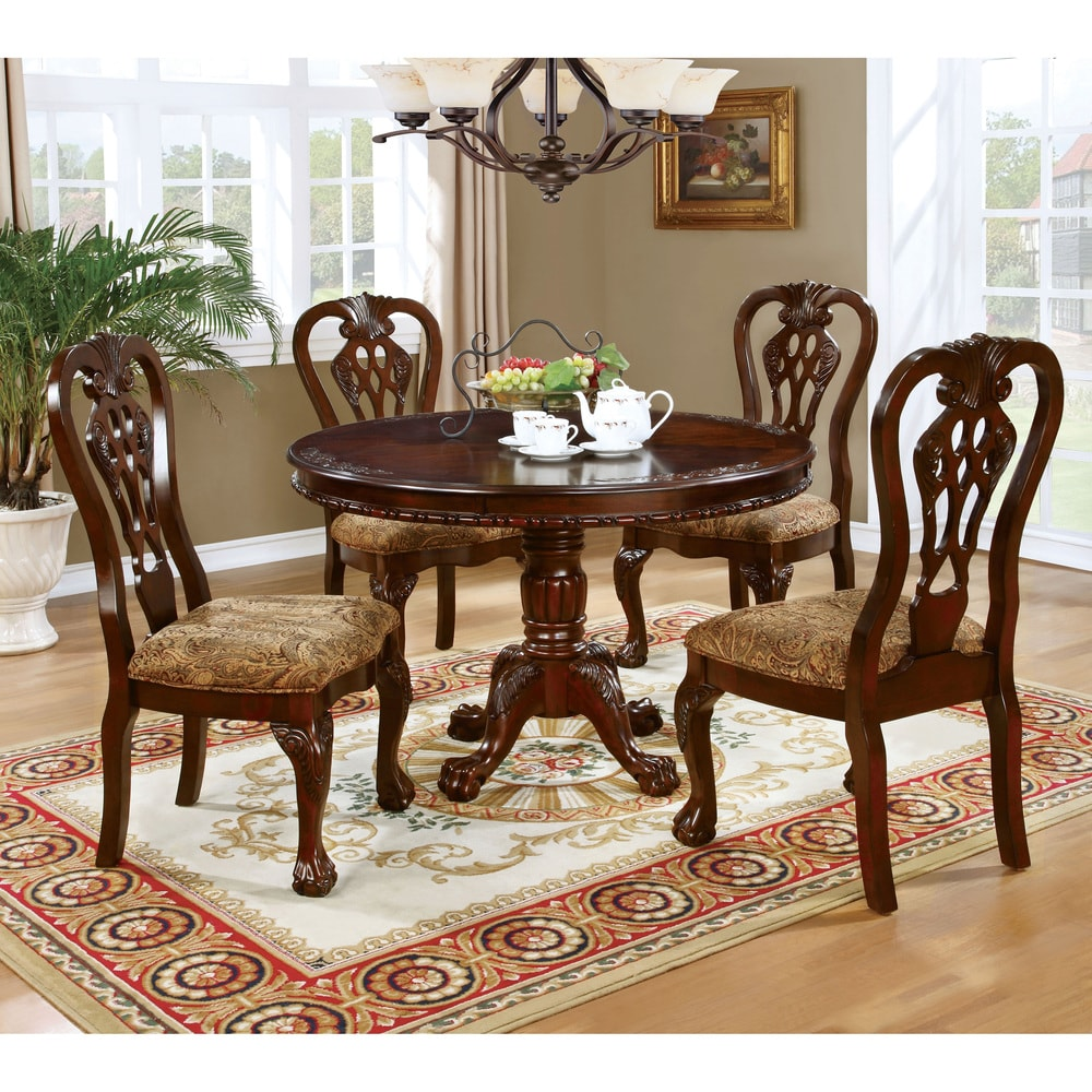 cherry pedestal dining table