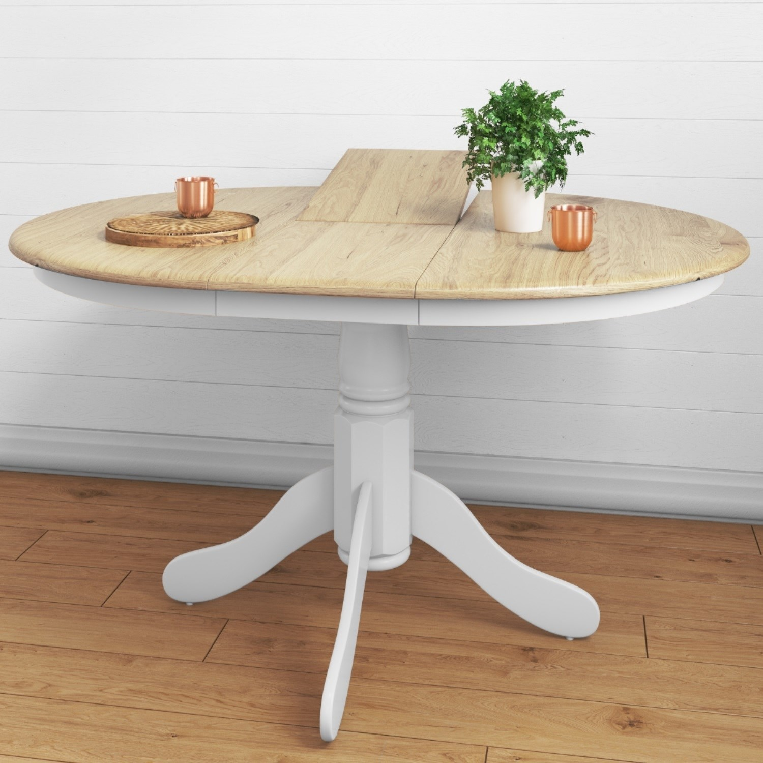 4 seater extendable round dining table