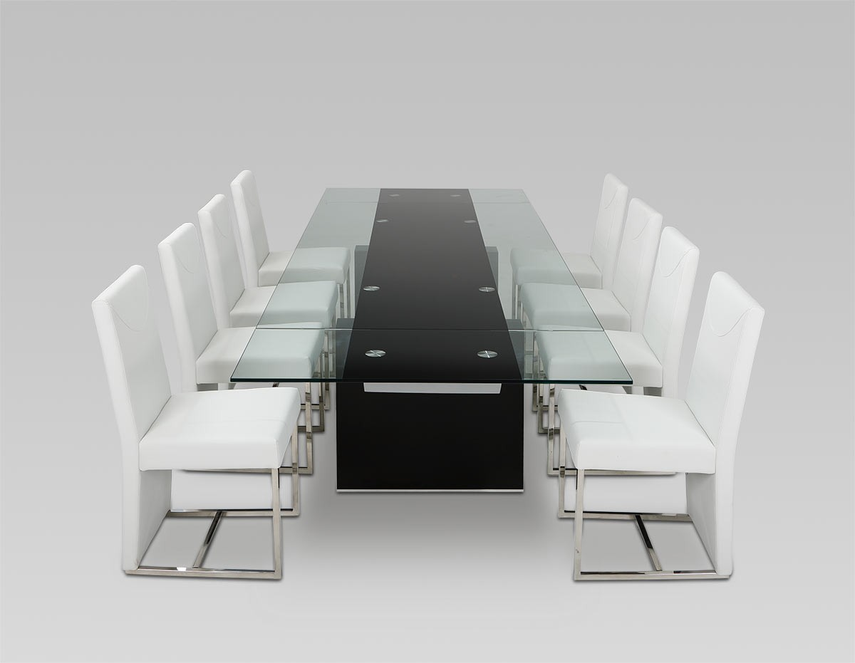 expandable glass dining tables