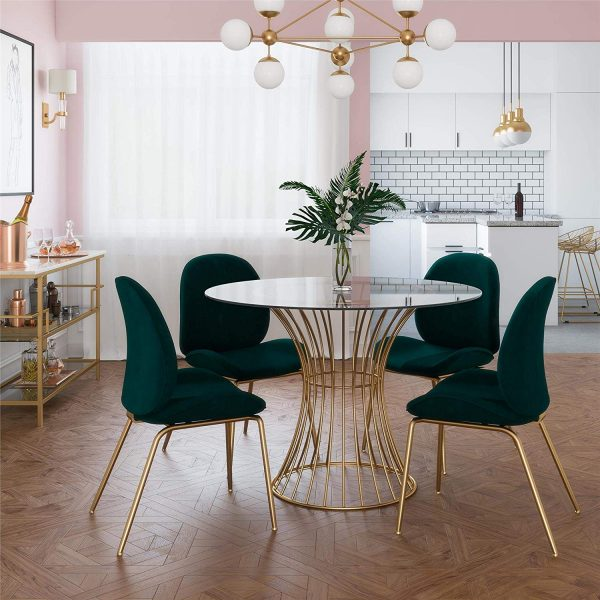 glass round tables dining