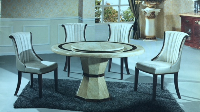 round dining table set for 6 with lazy susan