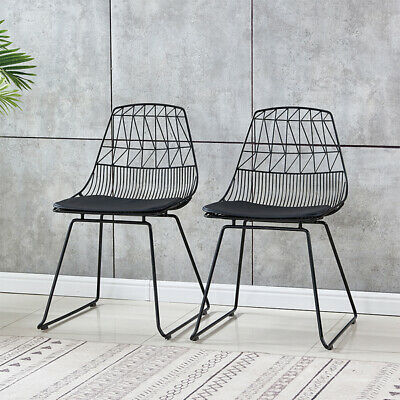 metal wire dining chairs