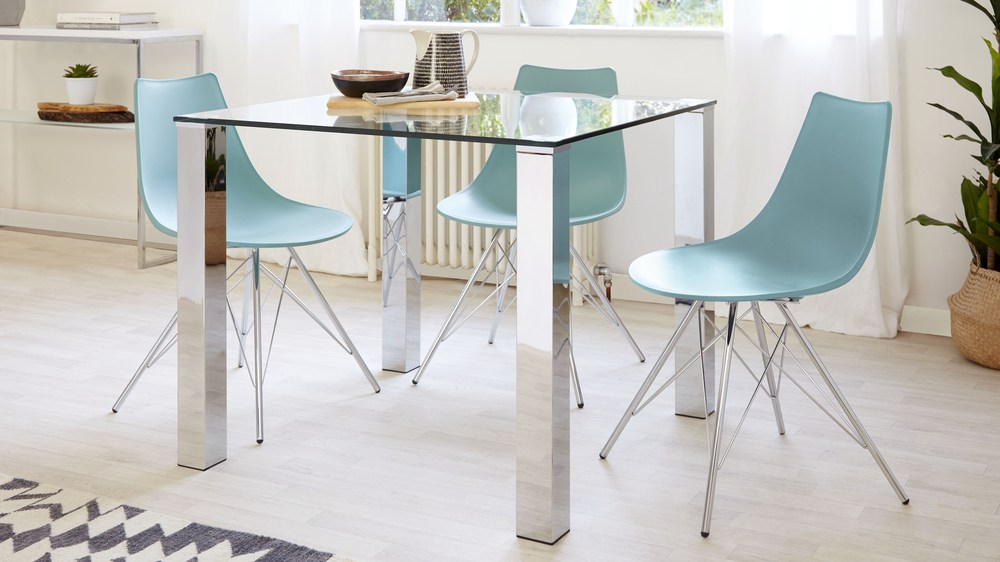 small square dining table and 2 chairs