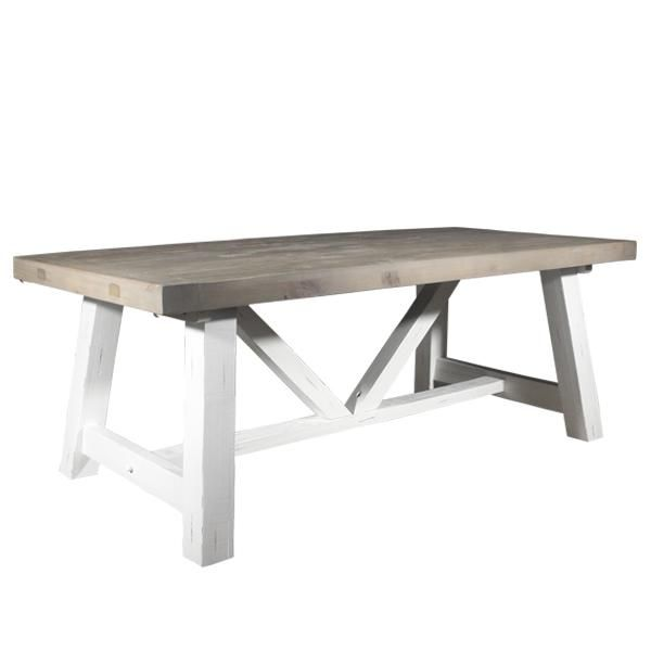 expandable trestle dining table