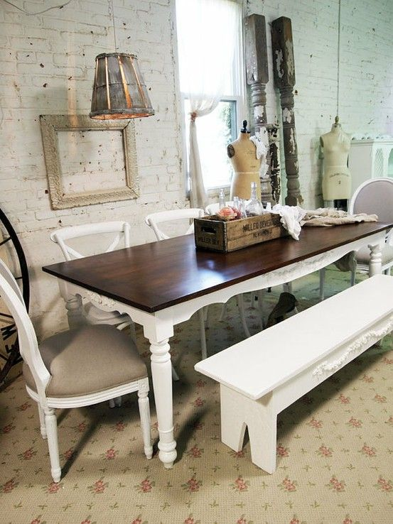 rustic shabby chic dining table