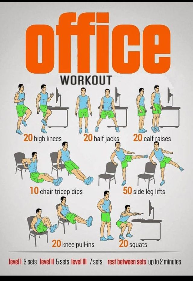 exercise in office chair