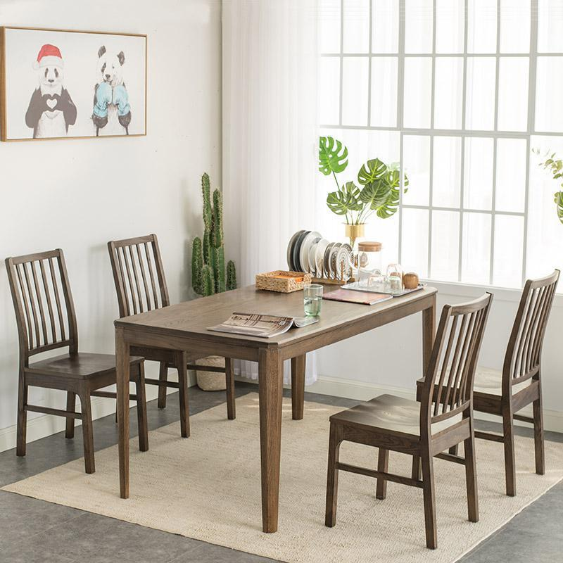 Full Solid Wood Dining Chair Nordic Simple Modern Oak Dining Table Chair Walnut Computer Chair Chair Chair Office Chairs Aliexpress
