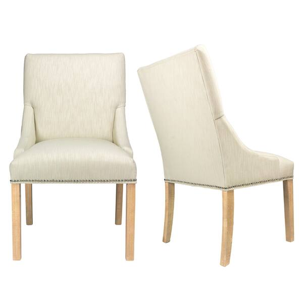 off white upholstered dining chairs
