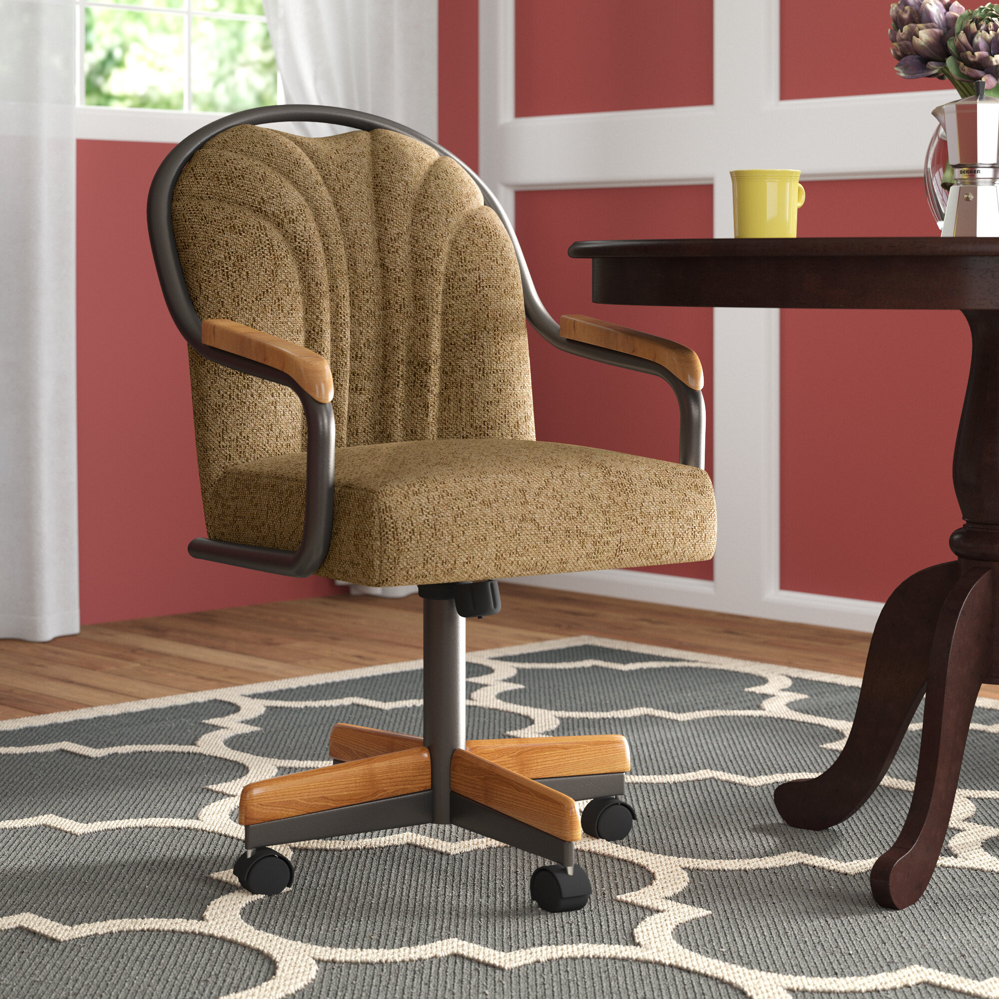 dining chairs with rollers