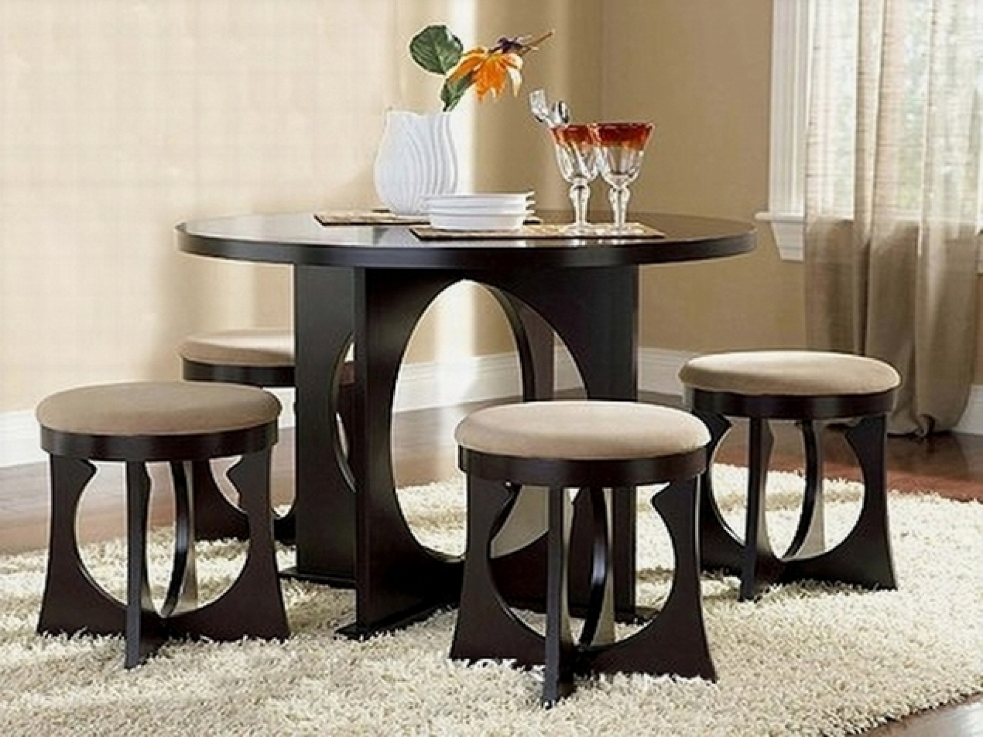 contemporary dining tables for small spaces