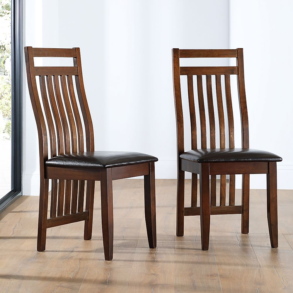 dark brown wood dining chairs