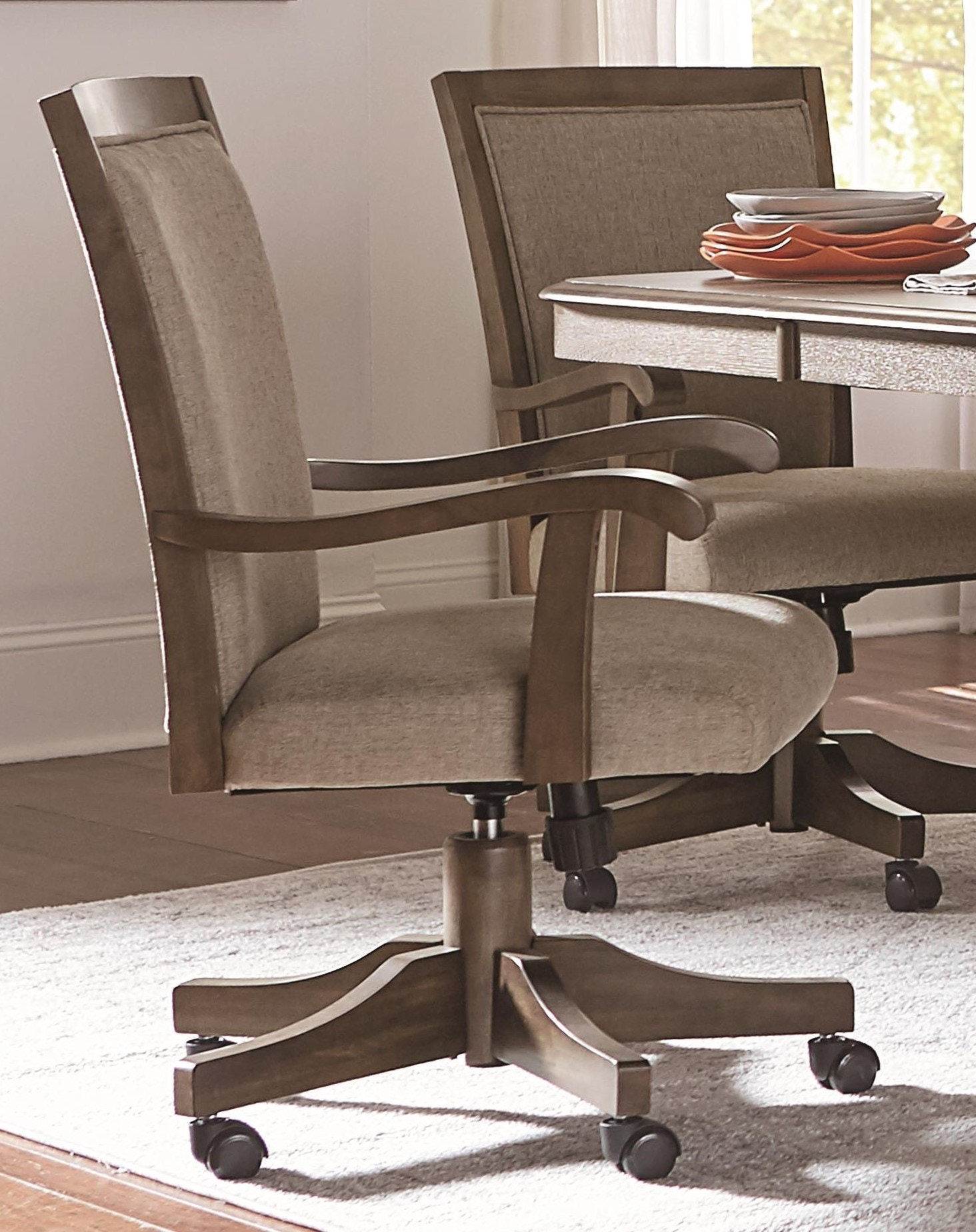 dining chairs casters swivel