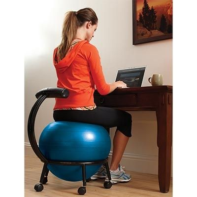 best size exercise ball for office chair