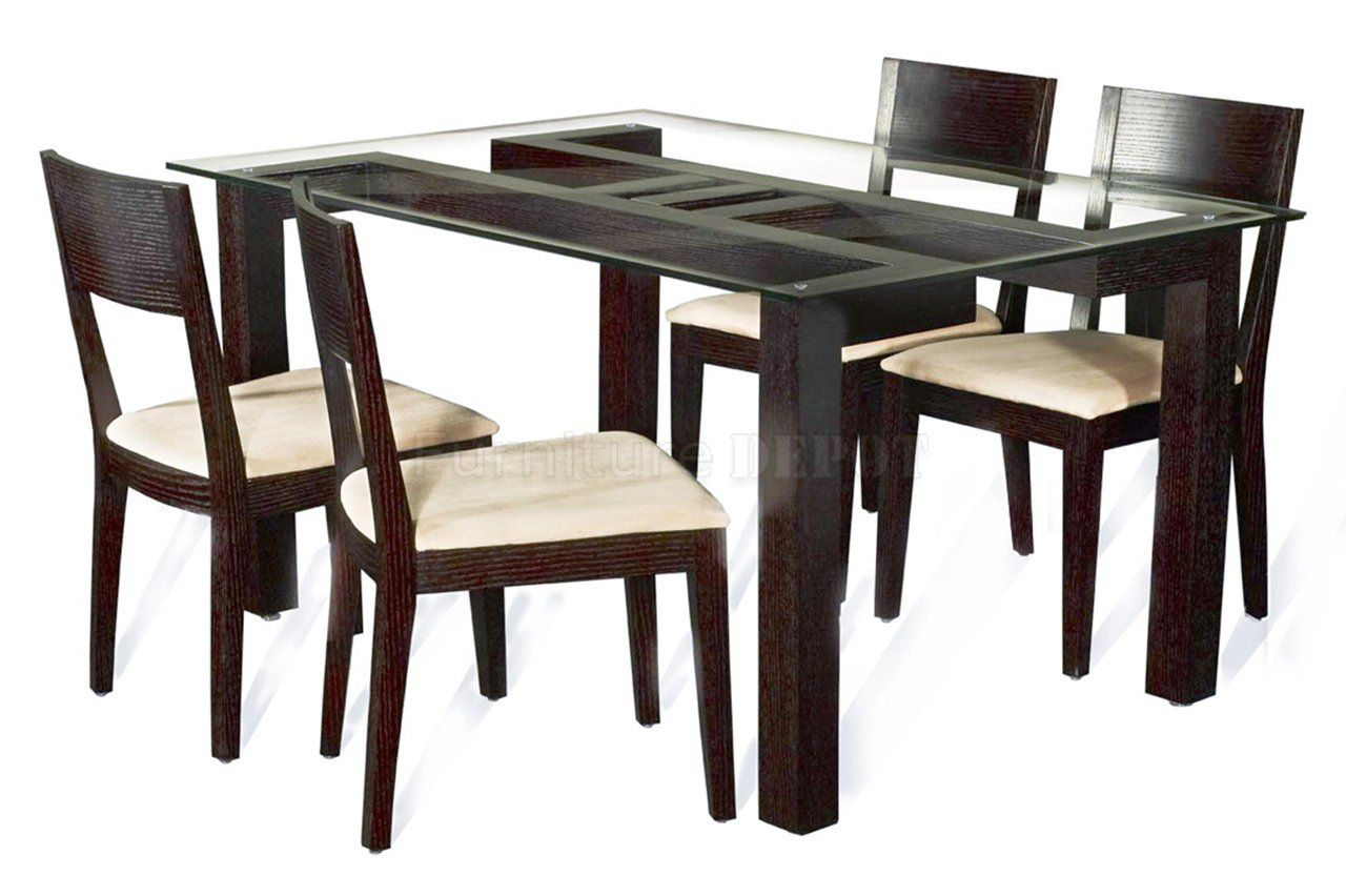glass top kerala style dining table