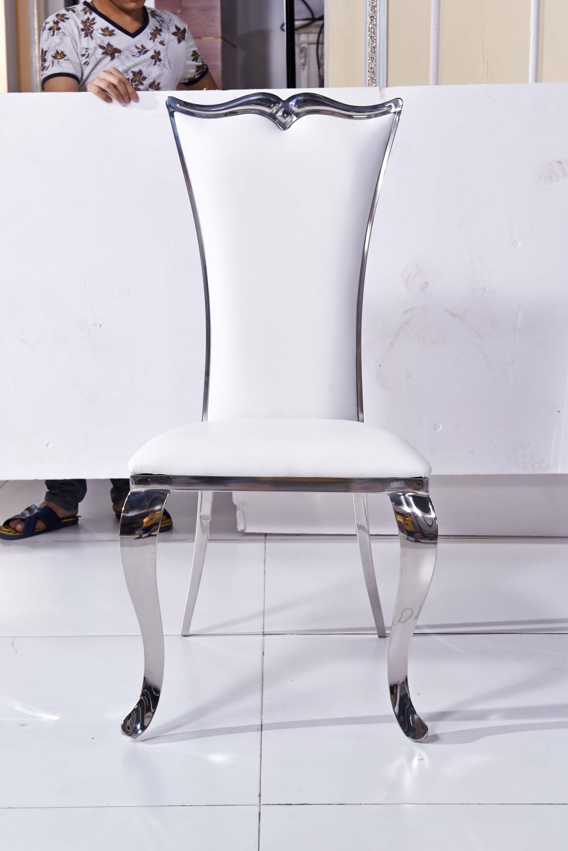 white leather dining chairs contemporary