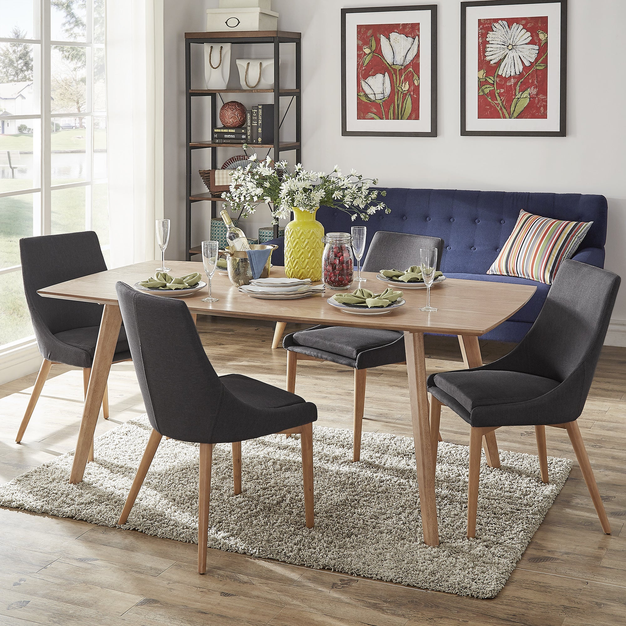 danish style dining table and chairs