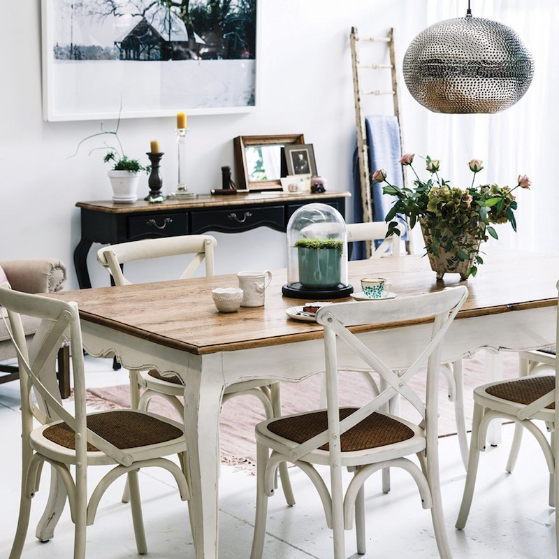black cross back dining chairs