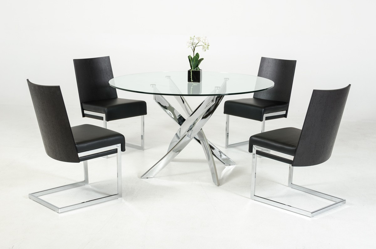 stainless steel base dining table