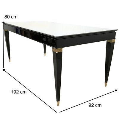 glass on wood dining table