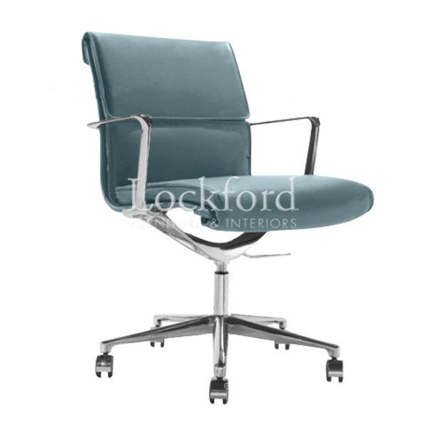 grey suede office chair