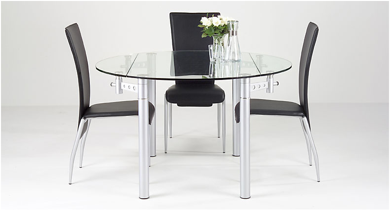 space saving round dining table and chairs