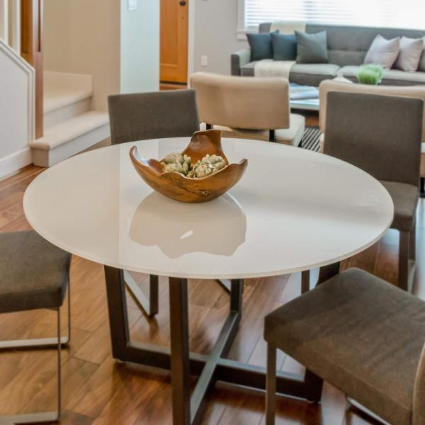 36 inch glass dining table