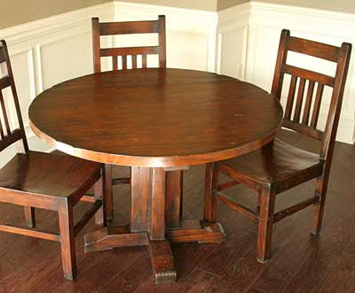 Woodworking Plans Round Dining Table