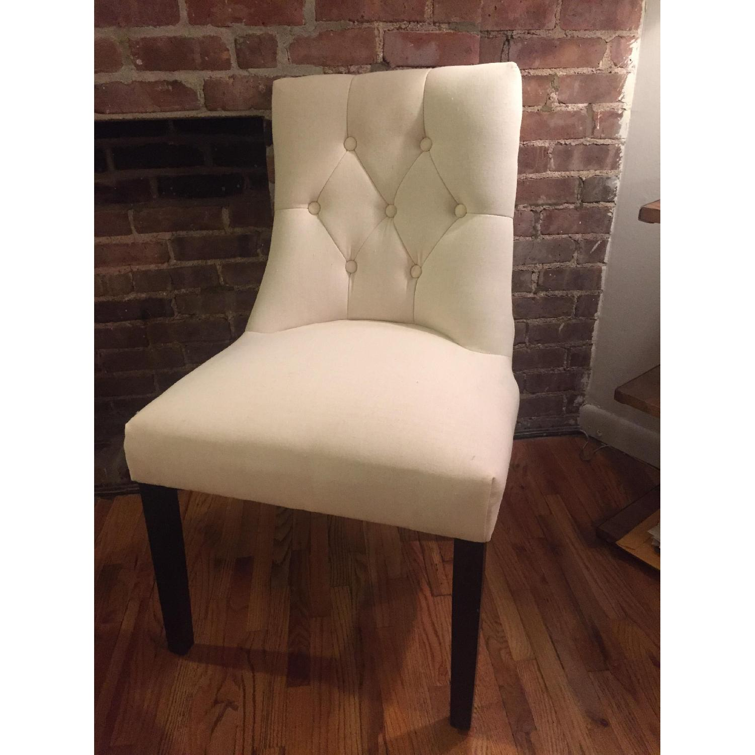 bellcrest button tufted upholstered dining chairs