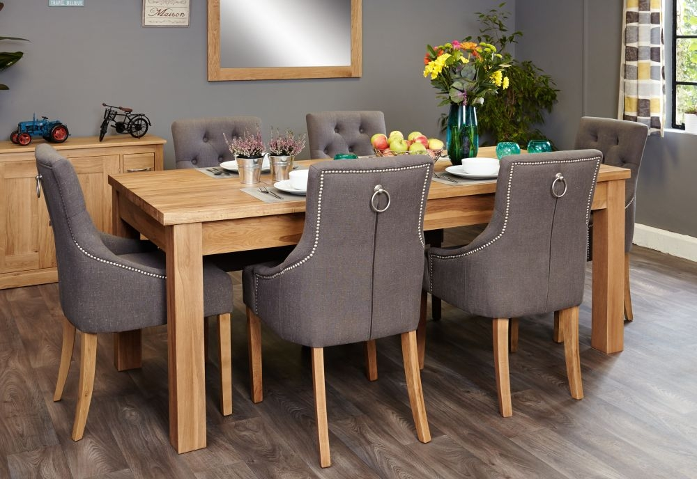 oak extendable dining table and chairs