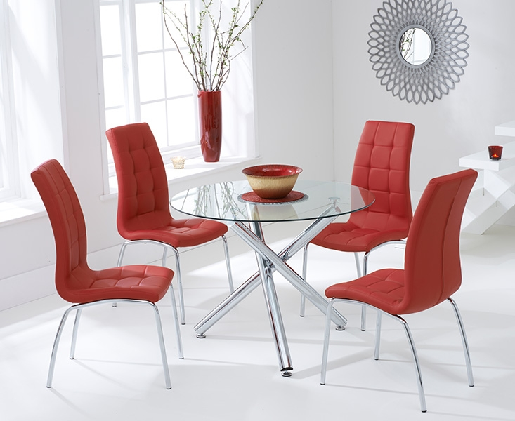 red round dining table