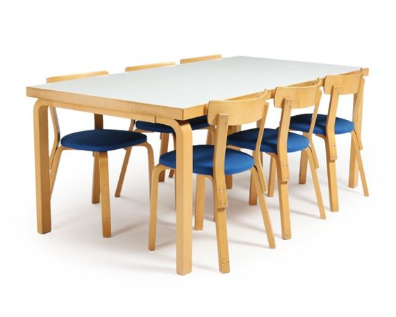 birch dining table and chairs