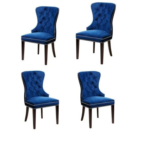tufted dining chair set of 4