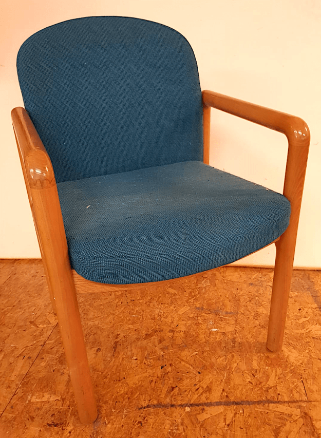 reupholster dining chair with leather