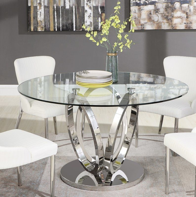 glass dining table decor