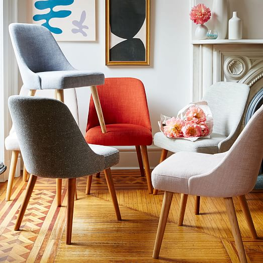 upholstered dining chairs modern