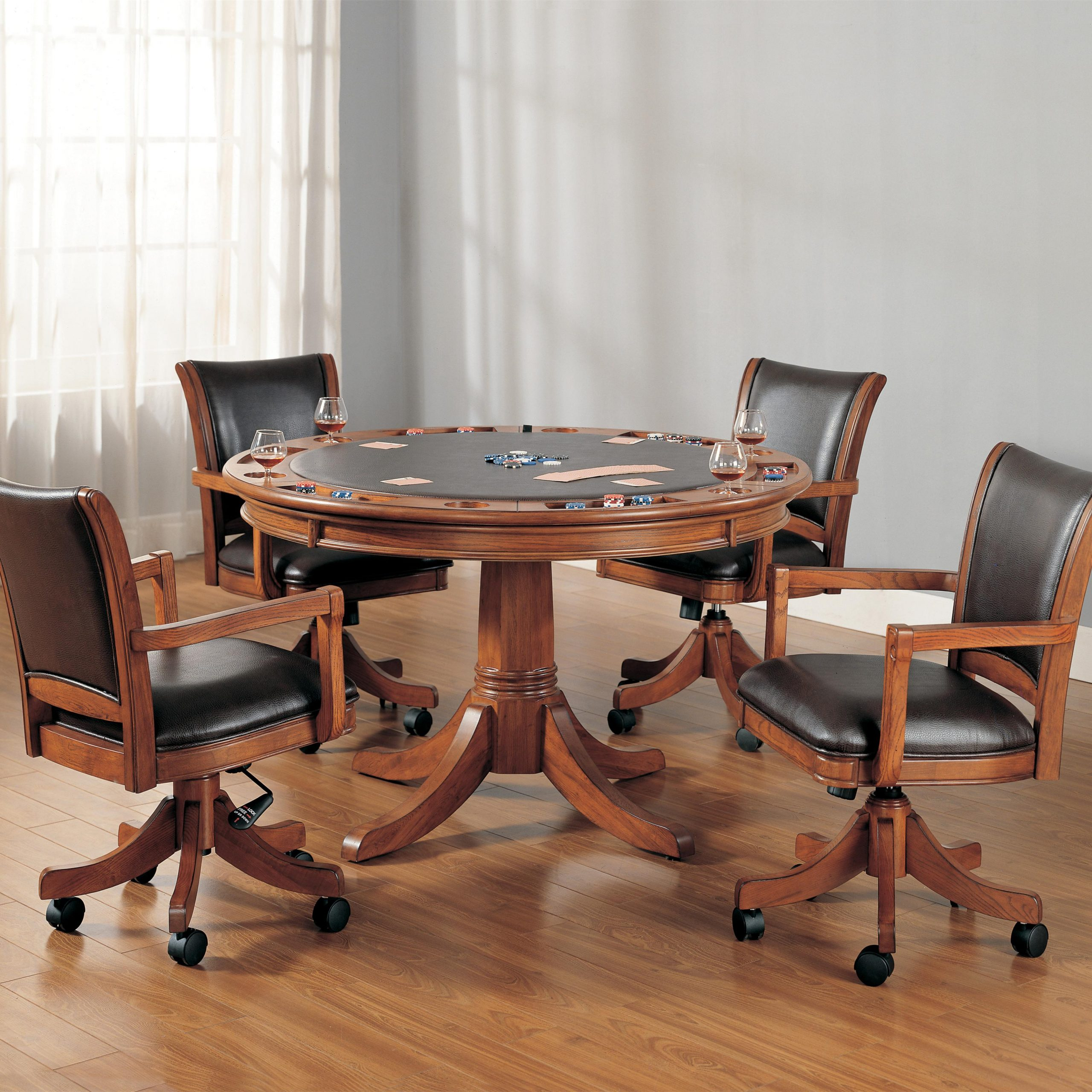 dining room chairs on wheels