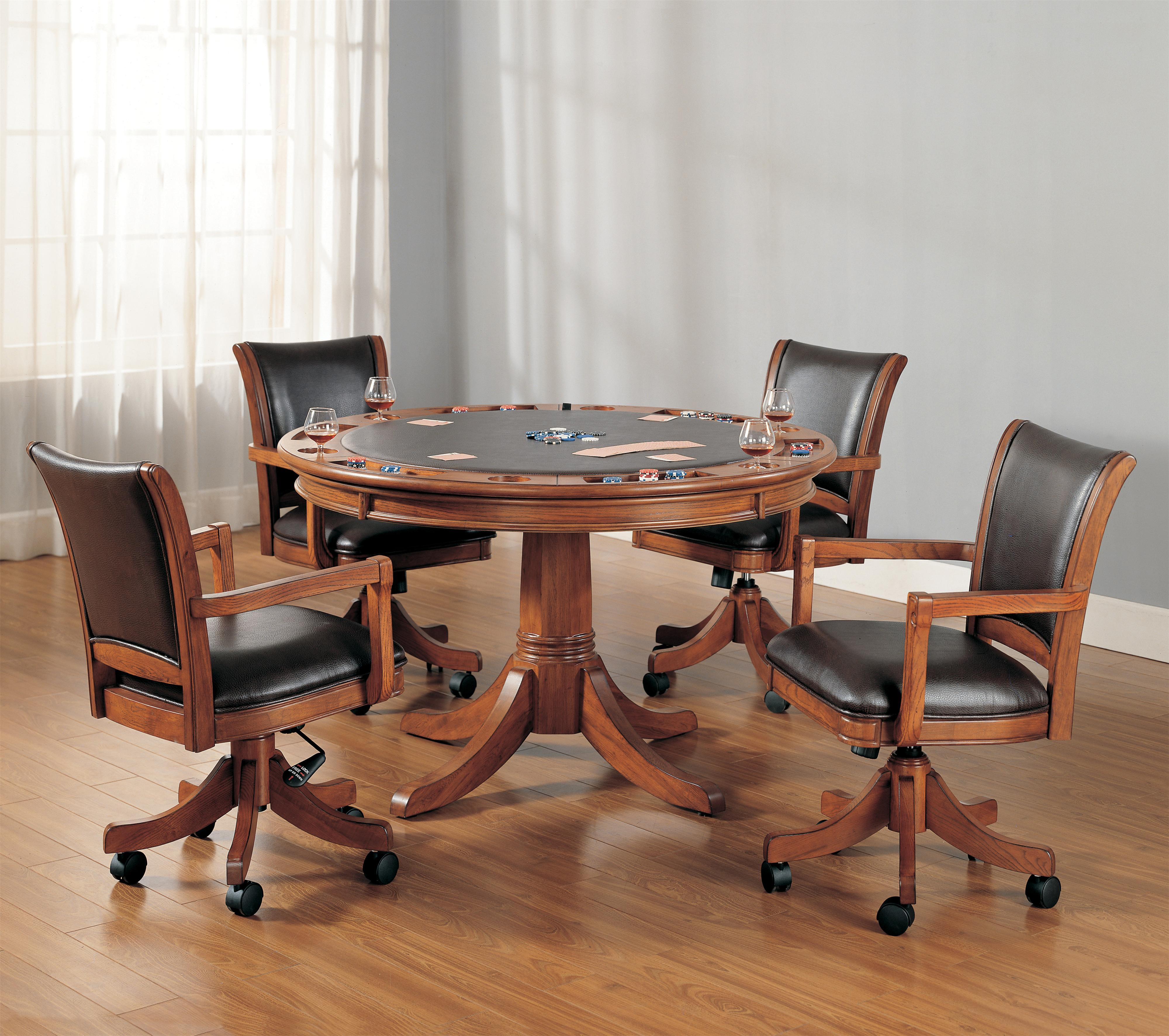 Hillsdale Park View Five Piece Gaming Lift Top Table And Chair Set Westrich Furniture Appliances Dining 5 Piece Sets