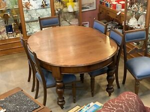 antique oak dining table and chairs for sale