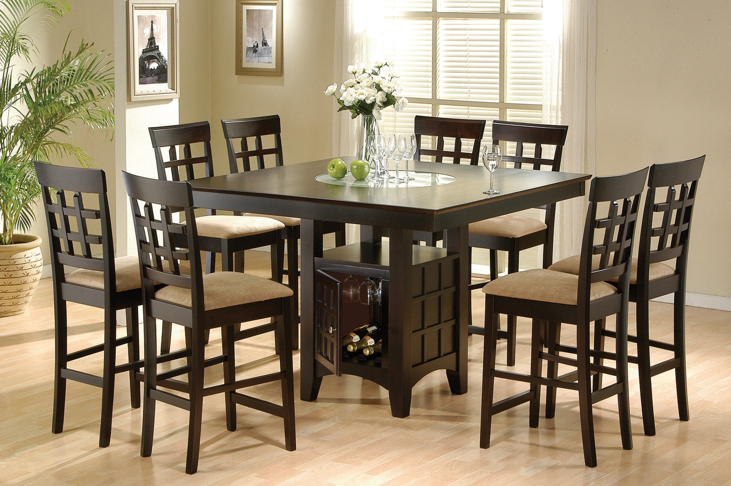 round formal dining table for 8
