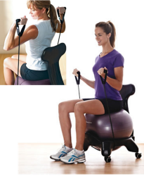 using an exercise ball as an office chair