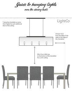 dining table lamp height