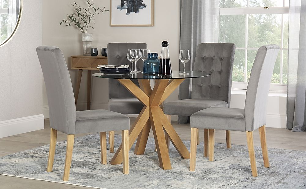 round dining table and chairs for 4
